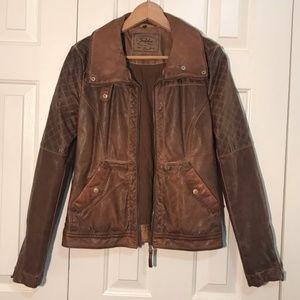 Vegan Leather Moto Jacket Trafaluc Zara L